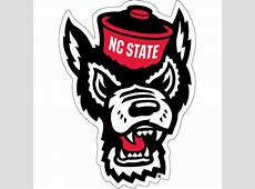 NC State Wolfpack Wolfhead Vinyl Decal – Red and White Shop