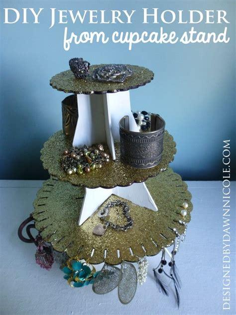 diy jewelry holder  cupcake stand dawn nicole designs