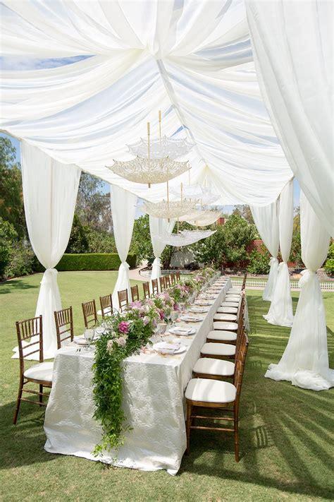 romantic vintage inspired outdoor bridal shower