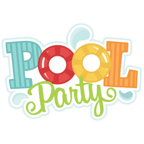 Image result for swim party clip art