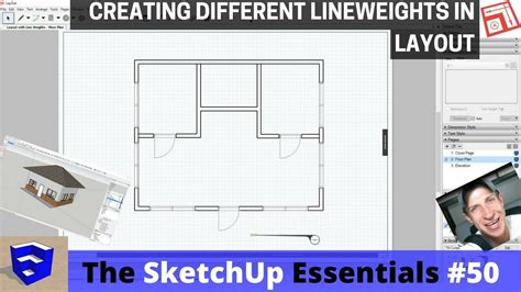 how to get floor plans adjusting lineweights in layout the sketchup essentials