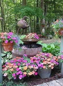 Upcycled, Garden, Fountain, Ideas