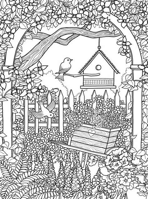garden coloring page floral coloring pages for adults