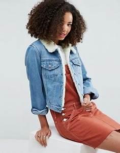 Veste En Jean Doublée Mouton Femme : denim veste en jean robe en jean chemises en jean asos ~ Melissatoandfro.com Idées de Décoration