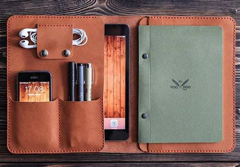 The Handmade Leather iPad Mini Case Holds Your Phone ...