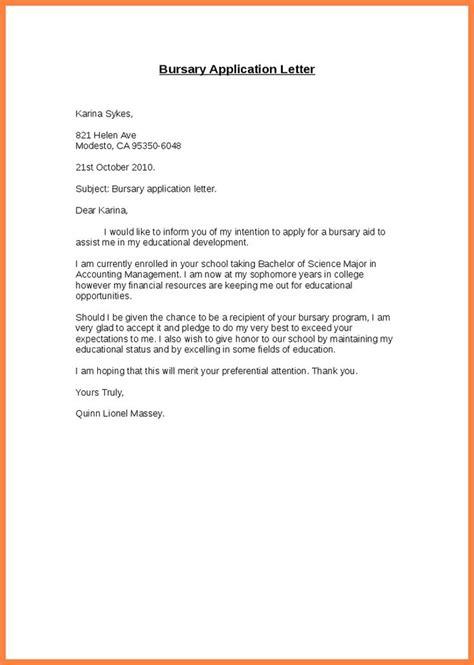 bursary application letter sample  resume builder cover