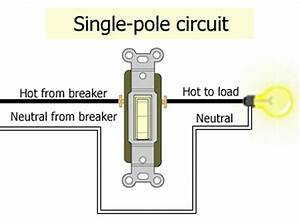 Single Pole Light Switch Wiring Diagram