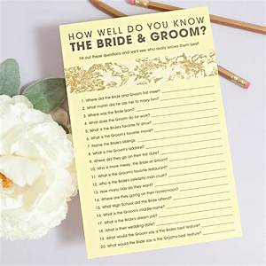 Free How Well Do You Know The Bride Groom Game