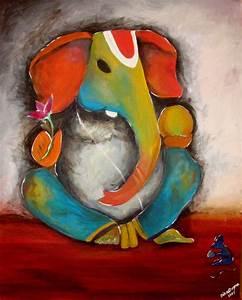 GANESH PAINTINGS, GANESH ART, HINDU ART | I HeArT Color ...