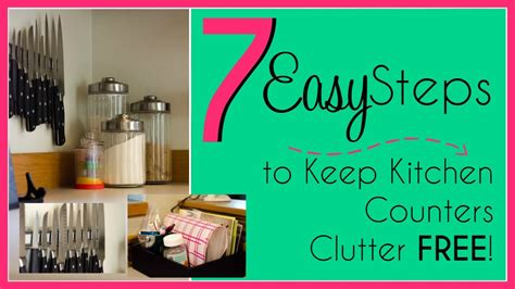 easy steps   clutter  kitchen youtube