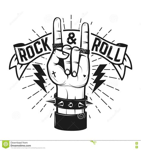 rock  roll sign human hand  heavy metal sign