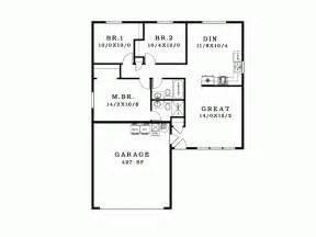 simple 3x 40 garage plans ideas photo eplans ranch house plan simple and looking 1089