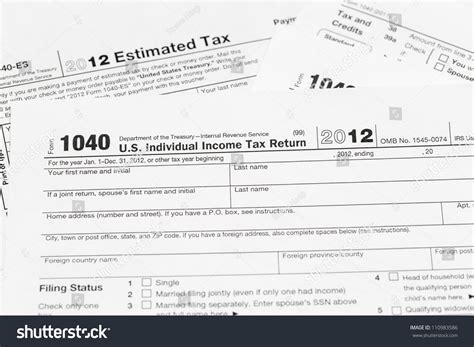 tax form 1040 tax year 2012 stock 110983586