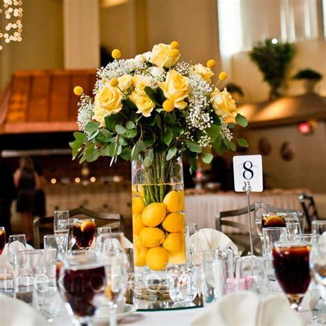 floral  lemon centerpieces