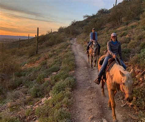 ride sunset horseback phoenix into giving while desert strut lets views source