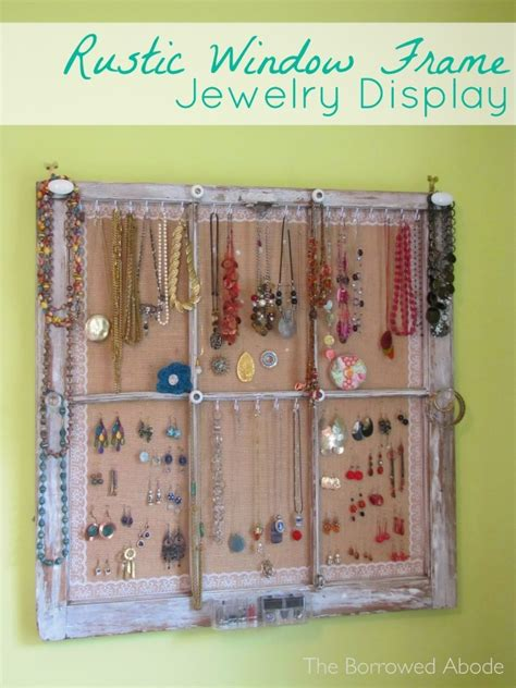 window frame jewelry display  improved design