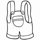 Overalls Coloring Printable Pages Template Surfnetkids sketch template