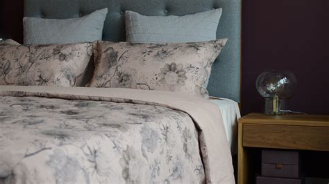 vintage print linen blend bedding natural bed company