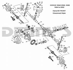 Dodge Dana 60 Disconnect Front Axle Parts For 1994 To 2002