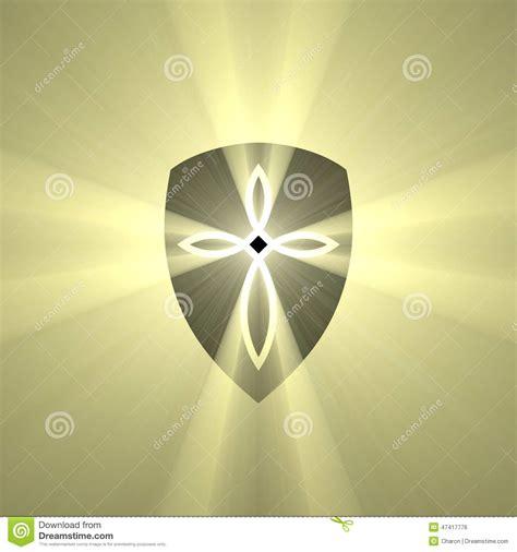 bouclier avec la fus 233 e crois 233 e de lumi 232 re de marque illustration stock image 47417776
