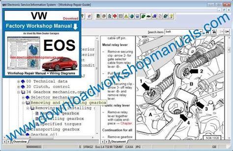 free service manuals online 2007 volkswagen eos parking system vw eos workshop manual