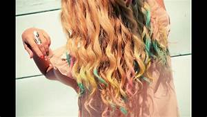 DIY Colorful Chalk Hair Tips Tutorial with Mr. Kate - YouTube