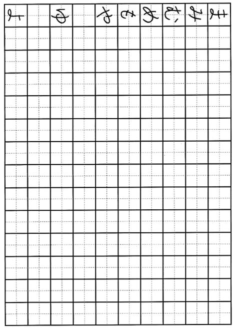 hiragana worksheet ma yo