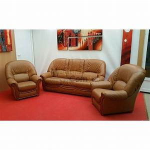 Ensemble salon pu boiseries apparentes canape 3 places 2 for Ensemble canapé convertible fauteuil