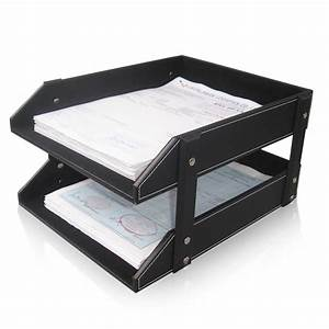 Aliexpresscom buy ever perfect double layer leather for Leather document tray