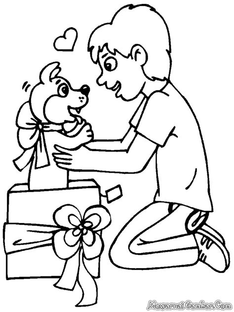 gambar hadiah natal  diwarnai mewarnai gambar