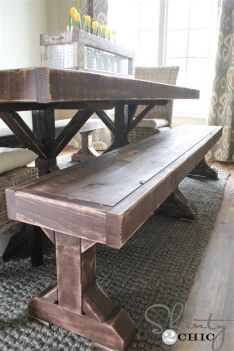 diy benches   dining table shanty  chic