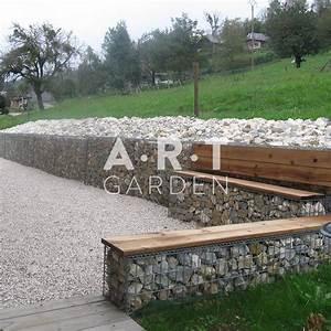Mur En Gabion : mur de soutenement en bois et pierre ~ Premium-room.com Idées de Décoration
