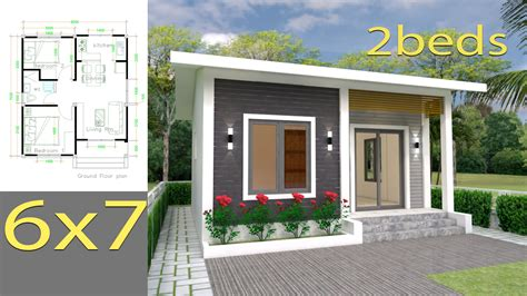 House Plans 6x7m with 2 bedrooms Full Plans SamPhoas Plan