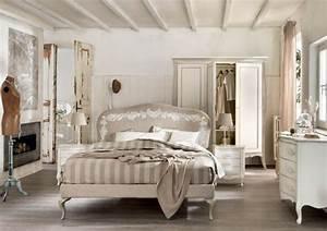 Chambre Shabby Chic : d coration de chambre 55 id es de couleur murale et tissus ~ Preciouscoupons.com Idées de Décoration