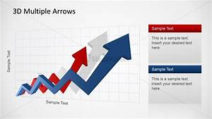 3d Multiple Arrows Upswing Trend For Powerpoint