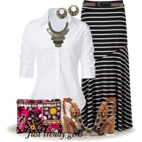 stripes maxi skirts styling ideas  trendy girls