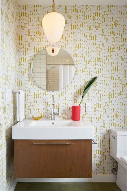 Bathroom Modern Yellow Mid Wall Century Powder