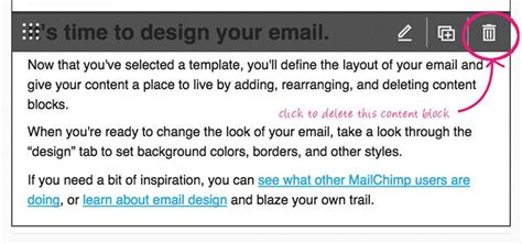 delete image mailchimp template mailchimp template layout for newsletter netwebbing