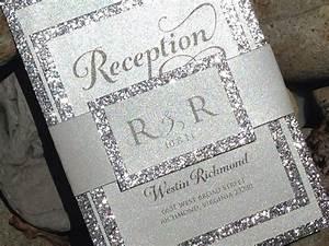 glitter wedding invitation glitter bridal shower With glitter wedding invitations online