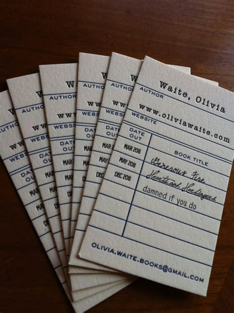 awesome librarian business cards oedborg