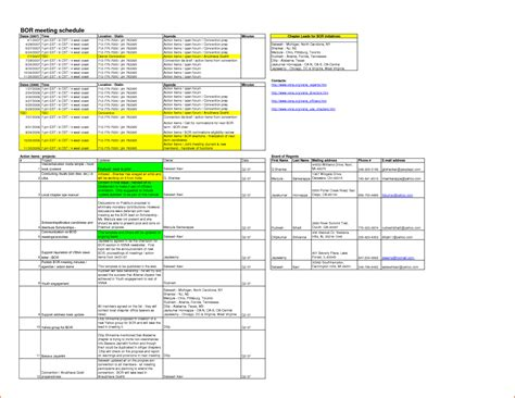 meeting minutes template excel 8 meeting minutes template excel bookletemplate org