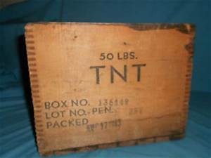 ANTIQUE EXPLOSIVES WOOD CRATE MINING DOVETAIL TNT BOX ...