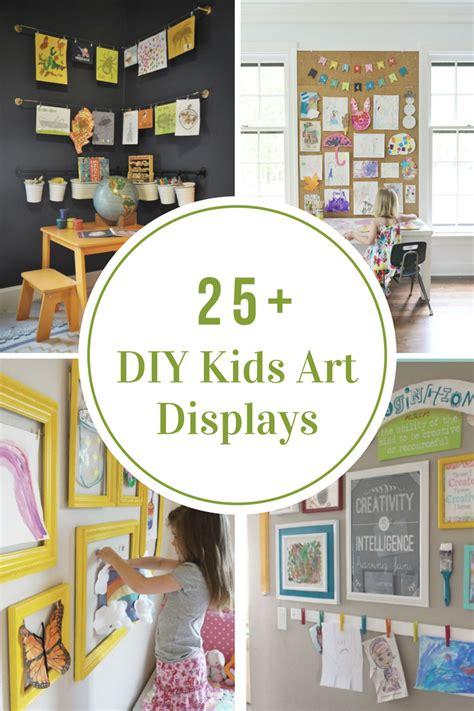 diy kids art displays  idea room