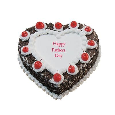 buysend happy fathers day heart shape black forest cake