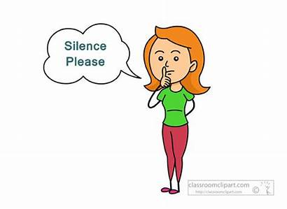 Quiet Silence Clipart Please Silent Mouth Sign