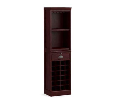 Modular Bar With Cabinet Tower by Modular Wine Grid Cabinet Bar Tower Mahogany Pottery Barn