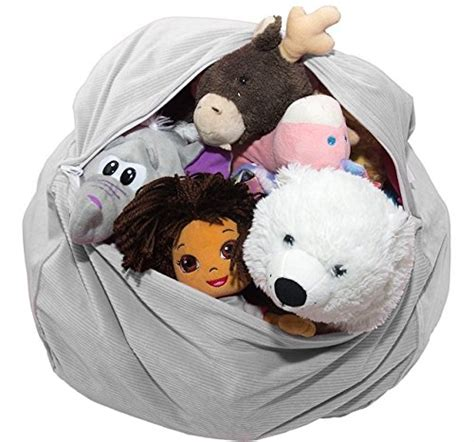 "Large Stuffed Animal Storage Bean Bag  ""soft 'n Snuggly"