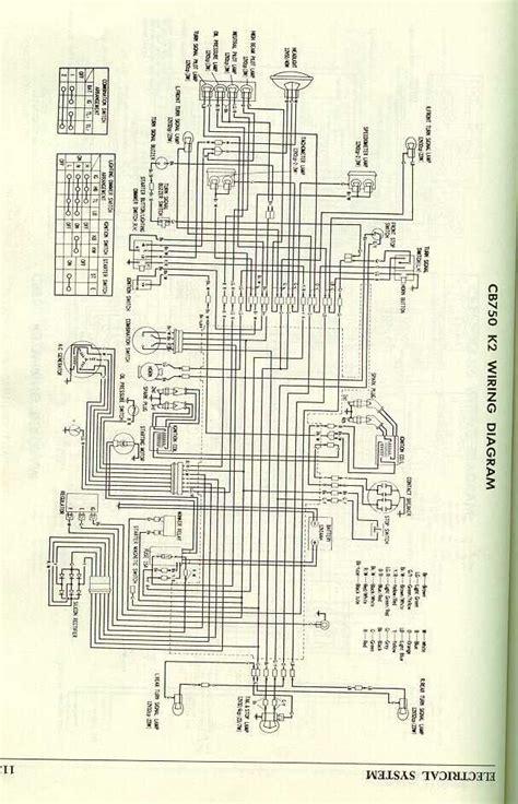 Cb 7 50 Wiring Diagram by Honda Cb750k2