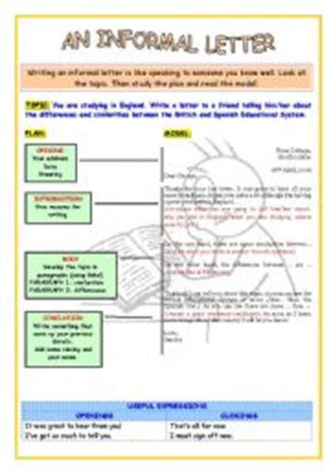 informal letters worksheets