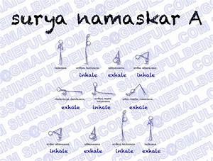 Surya Namaskar A  Notated With My Yoga Stick Figures